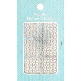 Nail Accessory Hollow Sticker šablonky na nehty 129 multibarevné ornament 1 aršík