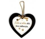 Nekupto Mazlíčci Dřevěná cedulka Láska a rodina dělá život nádherným 12 x 12 cm