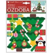 Skládaci vánoční papírová ozdoba vánoční stromek 23 x 19 cm