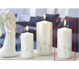 Lima Starlight svíčka bílá/stříbrná válec 60 x 120 mm 1 kus