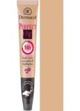 Dermacol Perfect Me Concealer zdokonalující korektor a rozjasňovač 02 Nude 7 ml