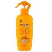 Nubian OF50 Mléko na opalování 200 ml sprej
