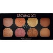 Makeup Revolution Ultra Blush Palette Golden Sugar 2 paletka tvářenek 13 g