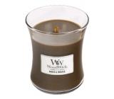 WoodWick Amber & Incense - Ambra a kadidlo vonná svíčka s dřevěným knotem a víčkem sklo střední 275 g