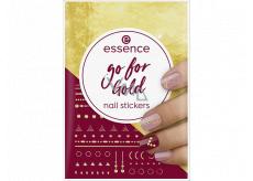 Essence Go for Gold Nail Stickers nálepky na nehty 74 kusů