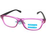 Berkeley Čtecí dioptrické brýle +1,0 plast růžové, hnědé stranice 1 kus R4077