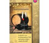 Albi Hrací přání do obálky K narozeninám Zátiší s vínem Zbraslavská polka Dechová hudba pod vedením Jindřicha Bauera 14,8 x 21 cm