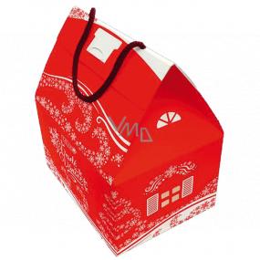 Liran Vánoční balení černého a bílého čaje Domeček velký 4 x 4 x 2 g