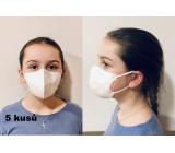 Crdlight Respirátor FFP2 obličejová maska pro děti bílá 5 kusů