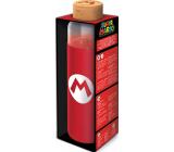 Epee Merch Super Mario skleněná láhev se silikonovým návlekem 585 ml