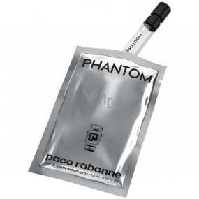 Paco Rabanne Phantom toaletní voda pro muže 1,5 ml s rozprašovačem, vialka