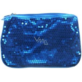 Dermacol Etue látková modrá s modrými glitry 25 x 17 x 7,5 cm