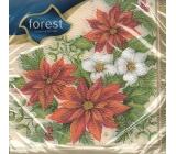 Forest Vánoční papírové ubrousky Vánoční růže 33 x 33 cm 1 vrstvé 20 kusů