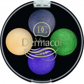 Dermacol Quattro Baked Eye Shadows oční stíny 08 5 g