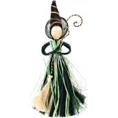 Čarodějnice se zelenou sukní 25 cm