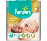 Pampers Premium Care 2 Mini 3-6 kg jednorázové plenky 80 kusů