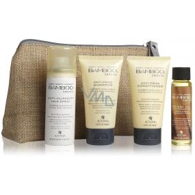 Alterna Bamboo Smooth Anti-Frizz Conditioner 40 ml + Anti-Humidity Hair Spray 43 ml + Kendi Oil Pure Treatment Oil Thick Hair 25 ml cestovní dárková sada 155 ml