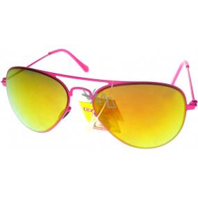 Dudes & Dudettes kategorie 3 sluneční brýle pro děti JK454 růžové