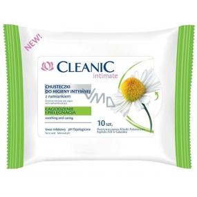 Cleanic Intimate Heřmánek ubrousky pro intimní hygienu 10 kusů