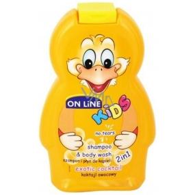 On Line Kids Exotic Coctail 2v1 sprchový gel a šampon na vlasy pro děti 250 ml