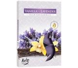 Bispol Aura Vanilla Lavender - Vanilky a levandule vonné čajové svíčky 6 kusů