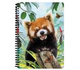 Prime3D Sešit A5 Panda Červená 14,8 x 21 cm