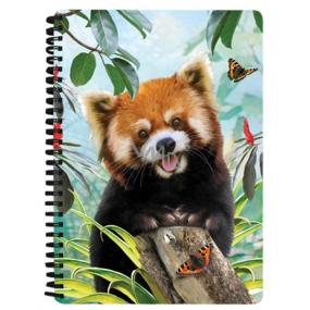 Prime3D sešit A5 - Panda Červená 14,8 x 21 cm