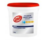 Savo Maxi Chlorové tablety do bazénu, pro celosezonní dezinfekci a údržbu bazénové vody 5 kg