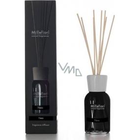 Millefiori Milano Natural Nero - Černá Difuzér 100 ml + 7 stébel v délce 25 cm do menších prostor vydrží 5-6 týdnů