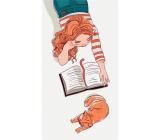 Albi Magnetická záložka do knížky Dívka si čte 8,7 x 4,4 cm