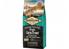 Carnilove Adult Fresh Carp & Trout superprémiové kompletní krmivo pro dospělé psy všech plemen 12 kg