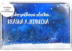 Albi Sněžítko fotorámeček Krásná a jedinečná 50 x 30 x 22 cm