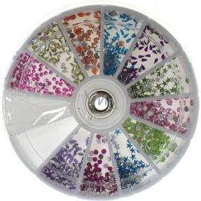 Professional Ozdoby na nehty kamínky barevný mix 12 barev 1 balení
