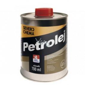 Severochema Petrolej určen na svícení v petrolejových lampách a čištění 700 ml v plechovce