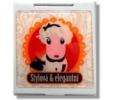 Nekupto Miss Cool Dárkové zrcátko do kabelky Ovečka Stylová & elegantní 004