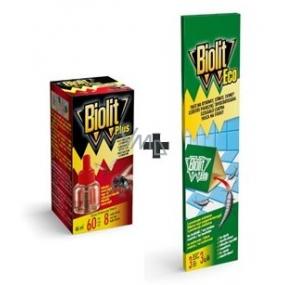 Biolit Plus Odpařovač tekutá náhradní náplň 60 nocí proti mouchám a komárům 46 ml + Biolit Eco past na rybenky na monitorování 3 kusy