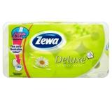 Zewa Deluxe Aqua Tube Camomile Comfort parfémovaný toaletní papír 3 vrstvý 150 útržků 8 kusů, rolička, kterou můžete spláchnout