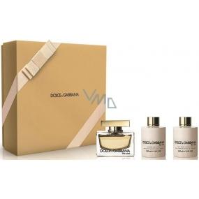 Dolce & Gabbana The One Female parfémovaná voda pro ženy 75 ml + tělové mléko 100 ml + sprchový gel 100 ml, dárková sada