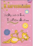 Albi Hrací přání do obálky K narozeninám Kočka Elán 14,8 x 21 cm