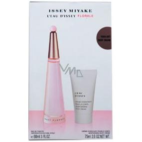 Issey Miyake L Eau d Issey Florale toaletní voda pro ženy 90 ml + tělový krém 75 ml, dárková sada