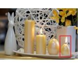 Lima Pastel svíčka metal tmavě žlutá vajíčko 40 x 60 mm 1 kus