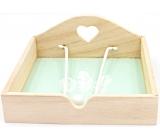 Nekupto Home Decor Krabička na ubrousky pírka 18,5 x 18,5 x 7,5 cm