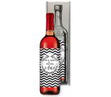 Bohemia Gifts Růžové svatební víno On se zeptal a Ona řekla Ano dárkové víno ke svatbě 750 ml