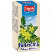 Apotheke Kotvičník zemní čaj pozitivně ovlivňuje funkci pohlavních orgánů, přispívá k normální funkci močové soustavy 20 x 1,5 g
