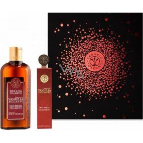 Erbario Toscano Vanilka a koření sprchový gel 125 ml + parfémovaná voda pro ženy 10 ml, dárková sada