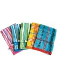 Abella Žínka froté rukavice Vzor různé barvy s poutkem 1 kus