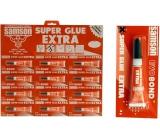 Samson Super Glue tekuté sekundové lepidlo červené 12 x 3 g