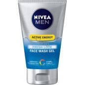 Nivea Men Active Energy osvěžující mycí gel na obličej pro muže 100 ml