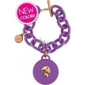 Ops! Objects Trésor 1 Coin Bracelet náramek OPSKBR1-14-1800 fialová