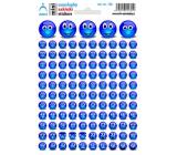 Arch Školní mini samolepky modří smajlíci 166